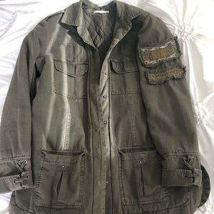 Willow and Clay Green Army Jacket